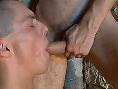 Army boys merrily blowing each others ramrods