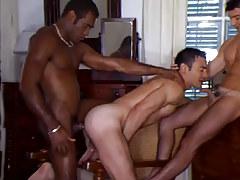 Black and latin gays upload white male
