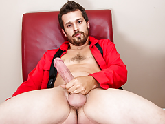 cute n' hairy horny accountant take a break to masturbate