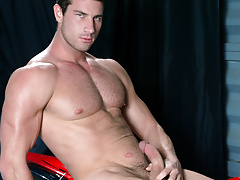 Rusty Stevens jerks his gentleman meat and cums on his motorcycle