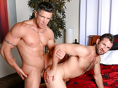 Trenton bends CJ over the ottoman & instigates his begging ass up