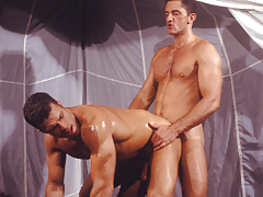 A frenzy of masculine desire. Sucking, fucking and rimming!
